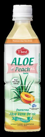 Picture of T'BEST Aloe Vera Peach 20x500ml