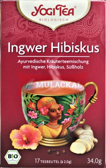 Picture of YOGI TEA Ingwer Hibiskus Bio 6x34g