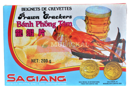 Picture of SA GIANG Shrimp Chips unbaked 55x200g