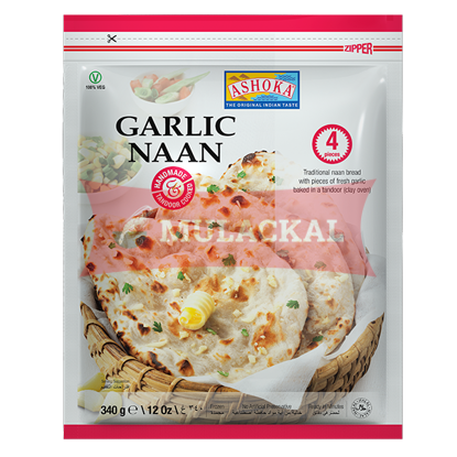 Picture of ASHOKA Tandoori Garlic Naan 4pcs 12x340g