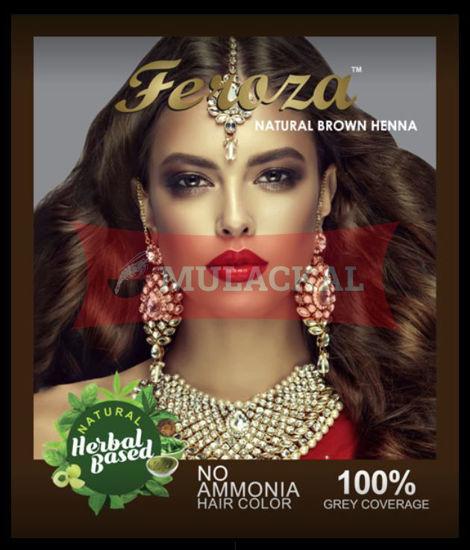 FEROZA Henna Natural Brown Color 60g