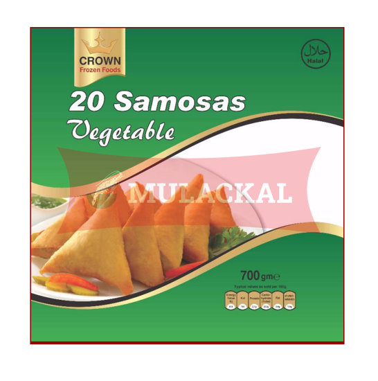 CROWN Vegetable Samosa 20Pcs 700g