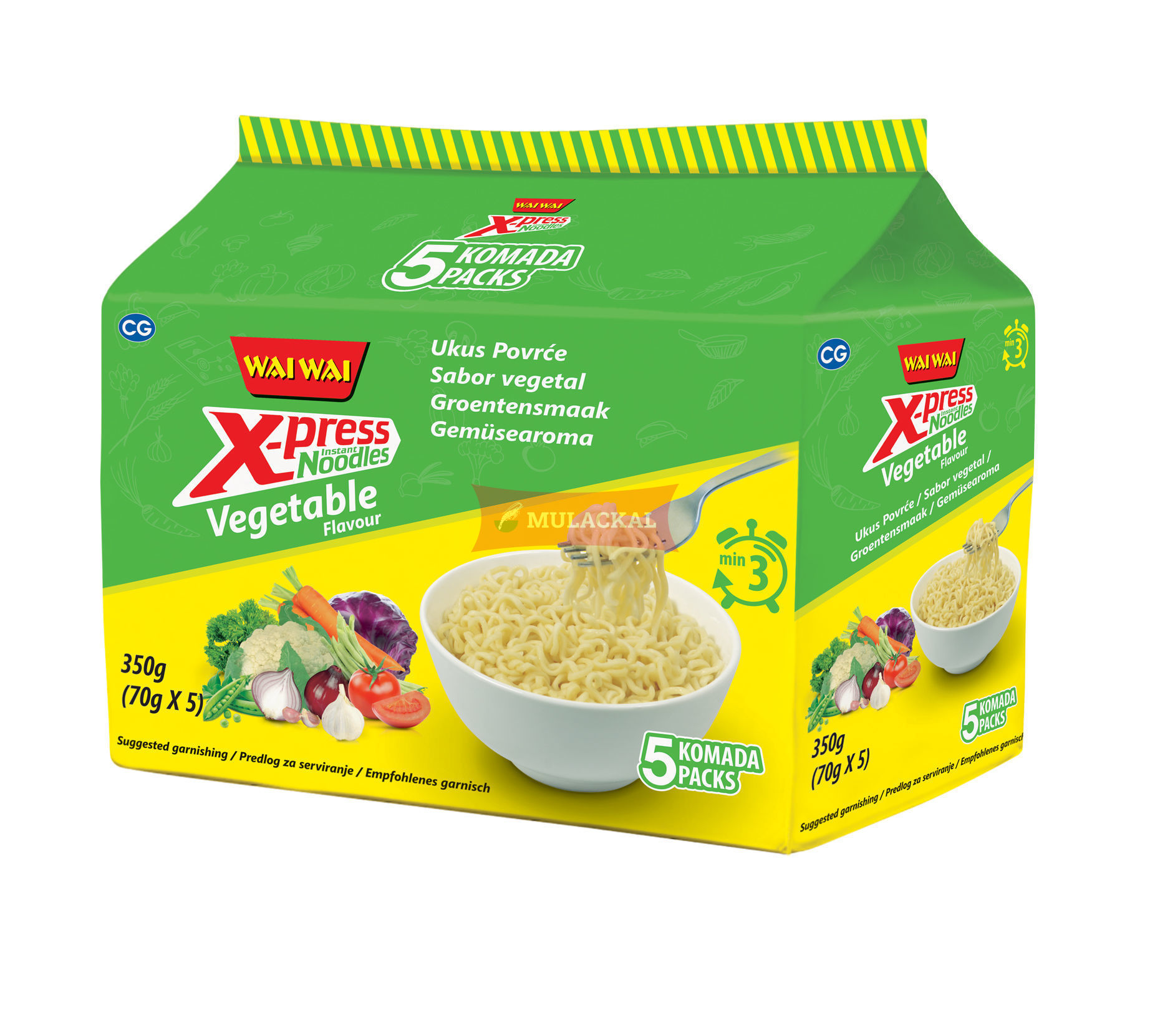WAI WAI Xpress Vegetable Flavour Instant Noodle 70g