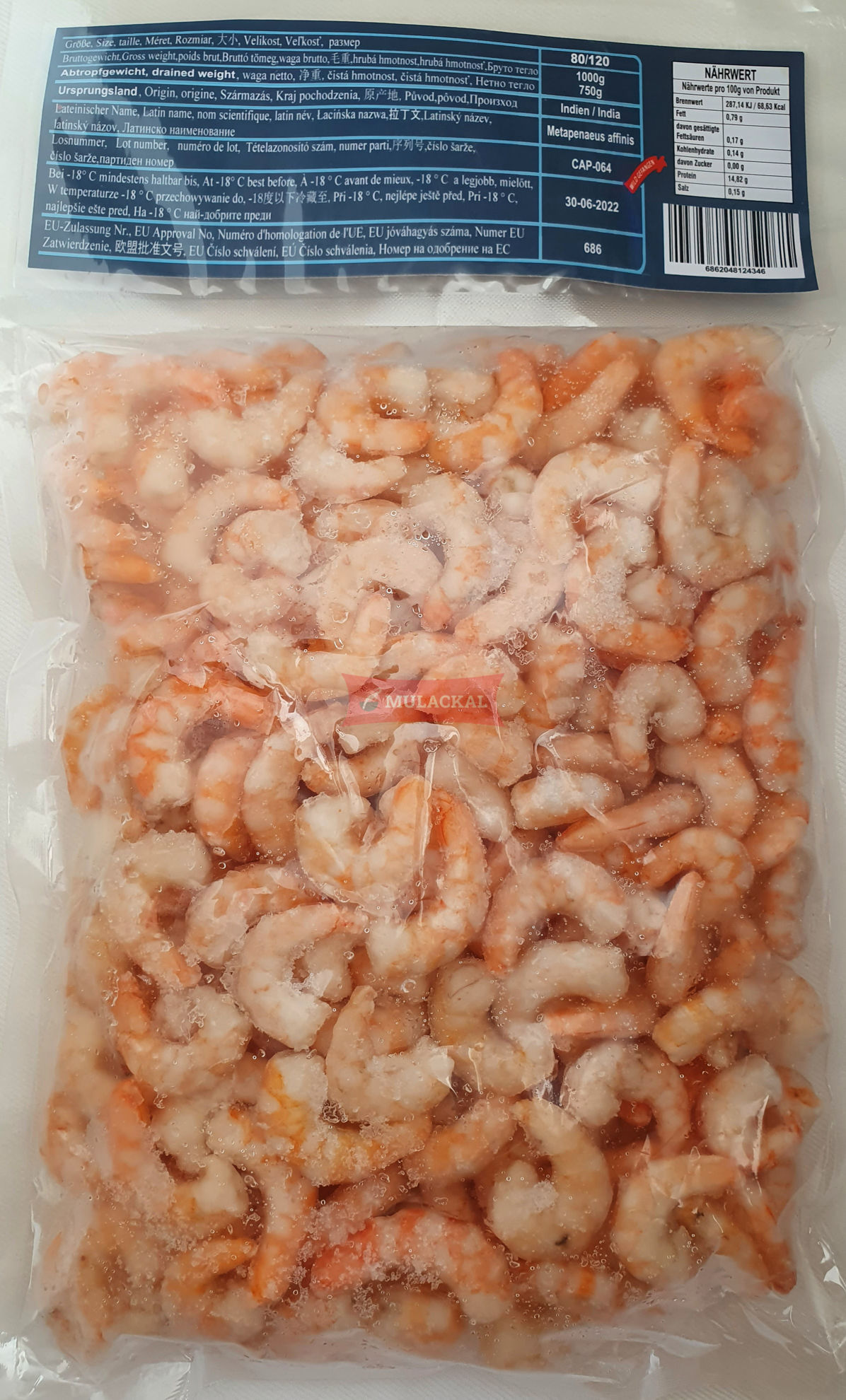 MULACKAL Cocktail Shrimps 80/120 1kg