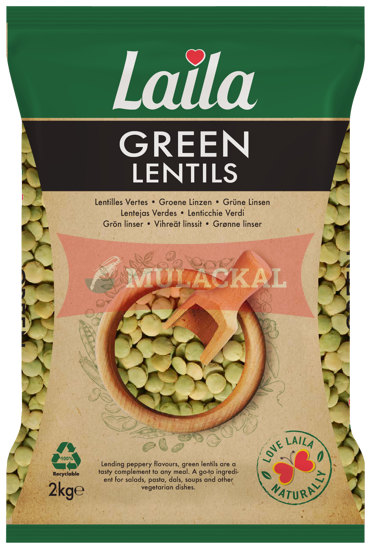 Laila Green Lentils 2kg