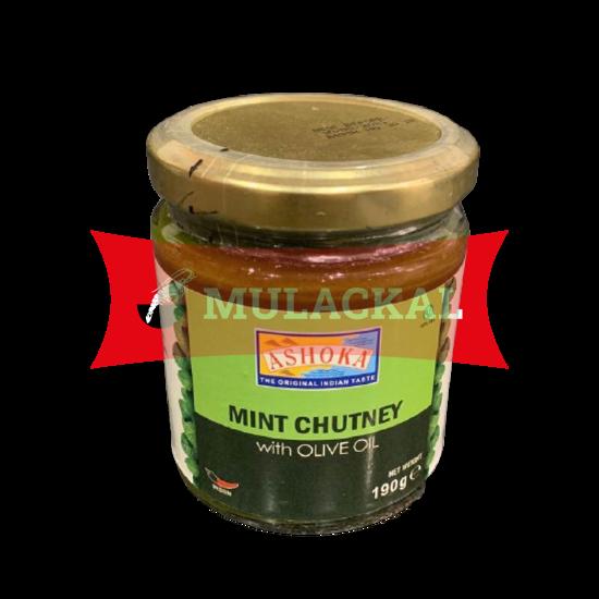 ASHOKA Mint Chutney in Olive Oil 6x190g